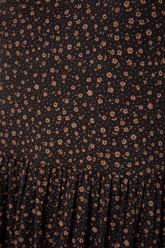 LIMITED COLLECTION Brown Ditsy Print Smock Midaxi Dress_S.jpg