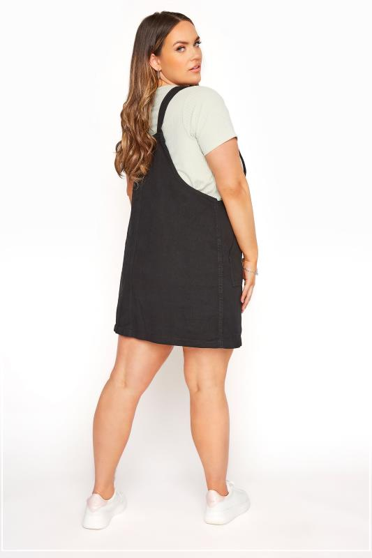 LIMITED COLLECTION Black Button Front Pinafore Dress_C.jpg