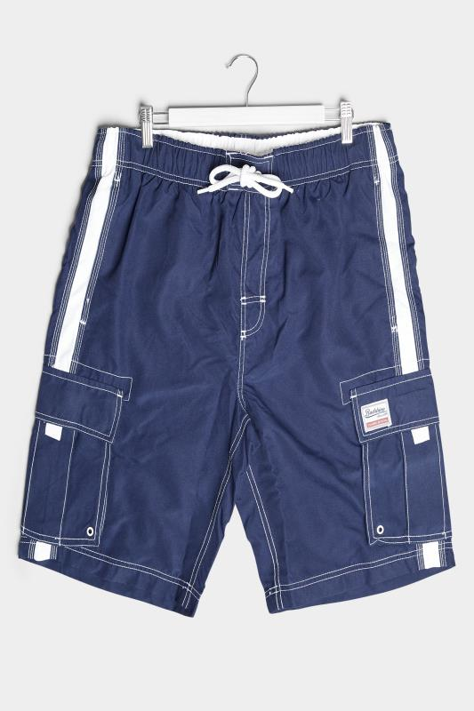 Plus Size  BadRhino Utility Cargo Swim Short Navy
