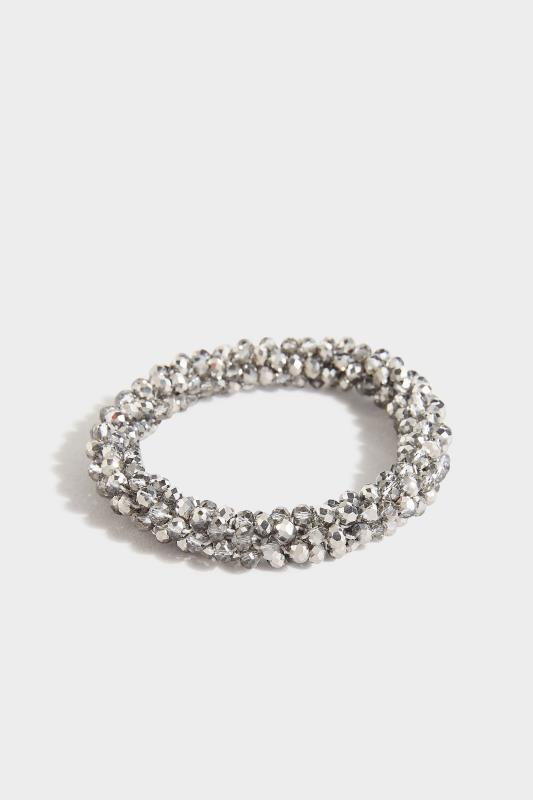 Silver Beaded Stretch Bracelet_A.jpg