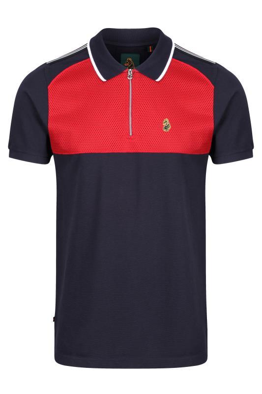 Plus Size  LUKE 1977 Navy Lorenzo Polo Shirt