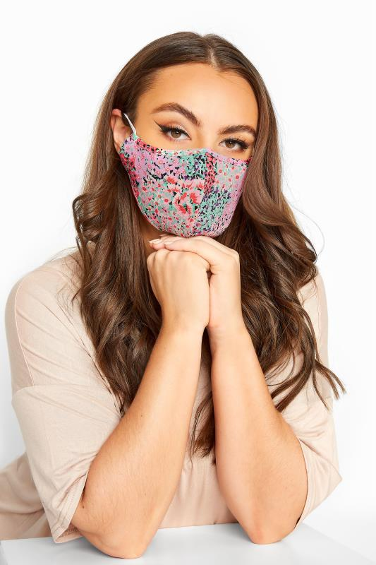 Plus Size  Pink Floral Antibacterial Face Mask