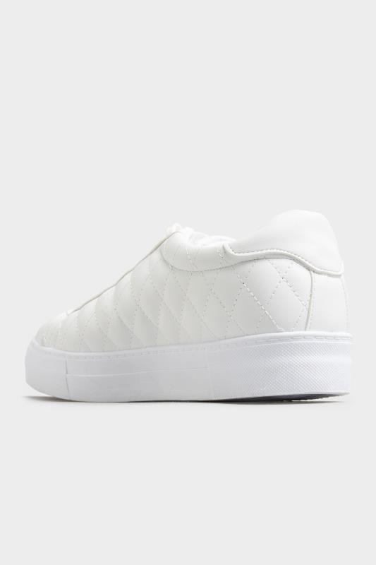 LIMITED COLLECTION White Quilted Trainers In Wide Fit_D.jpg