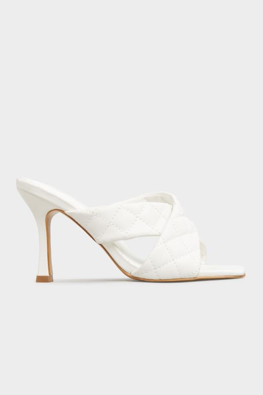 LIMITED COLLECTION White Cross Quilted Stiletto Mules In Extra Wide Fit_A.jpg