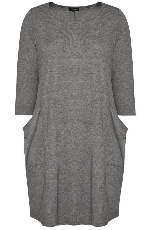 Kleid mit Taschen - Grau, große Größen 44 bis 64 | Yours ...