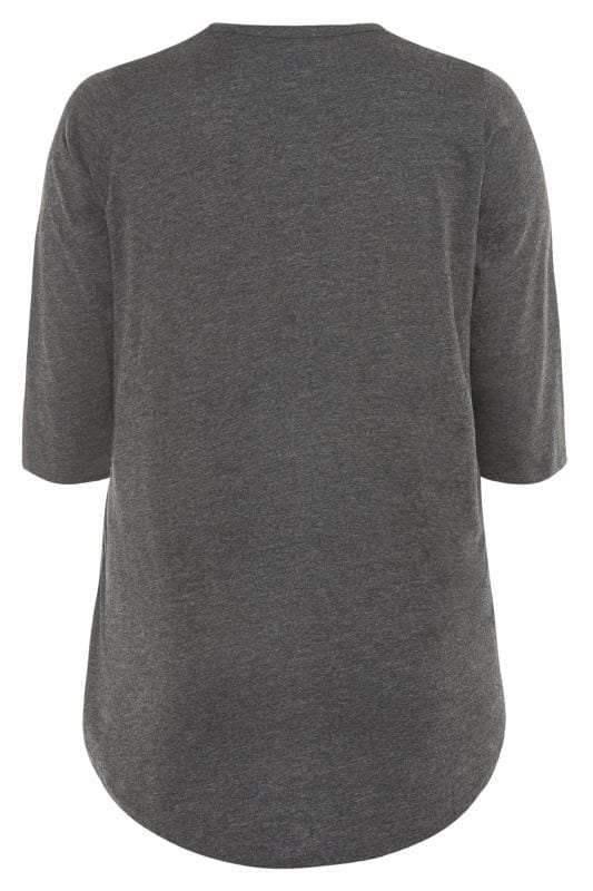 Grey Pintuck Jersey Top