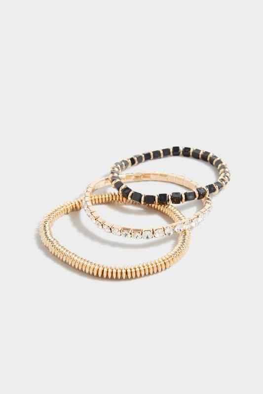 Yours Gold 3 Pack Mixed Stretch Bracelet