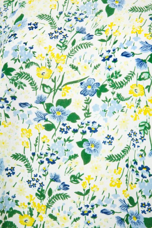 White Floral Print Dipped Hem Blouse_S.jpg