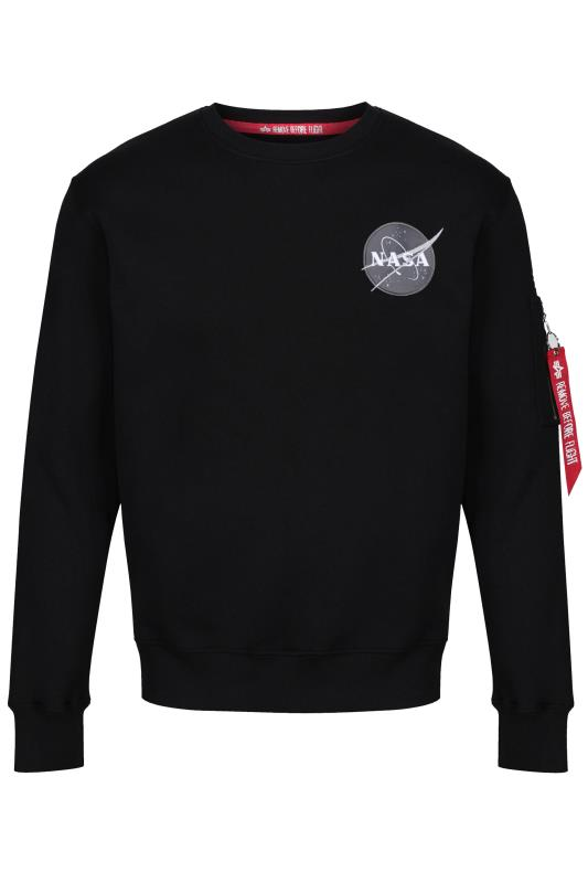 Plus Size Casual / Every Day ALPHA INDUSTRIES Black NASA Space Shuttle Sweatshirt