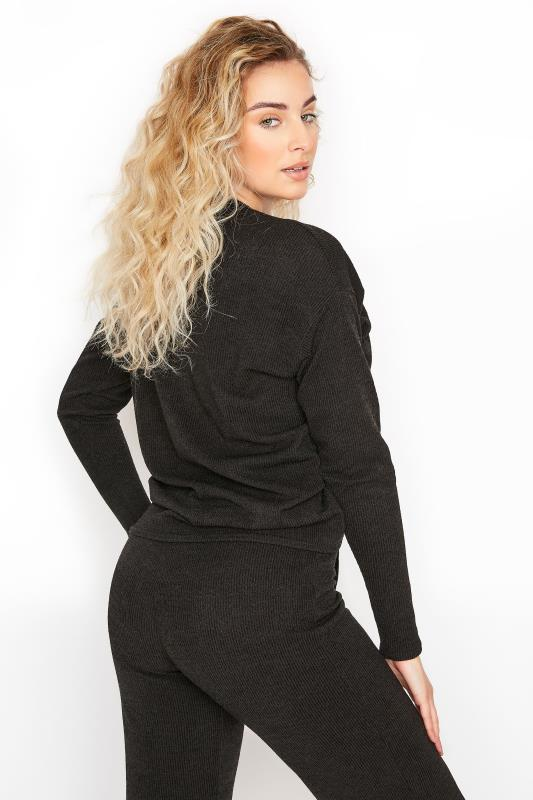 LTS Black Ribbed Ruched Co-ord Top_C.jpg
