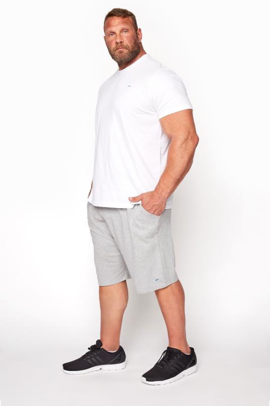 BadRhino Grey Marl Essential Jogger Shorts