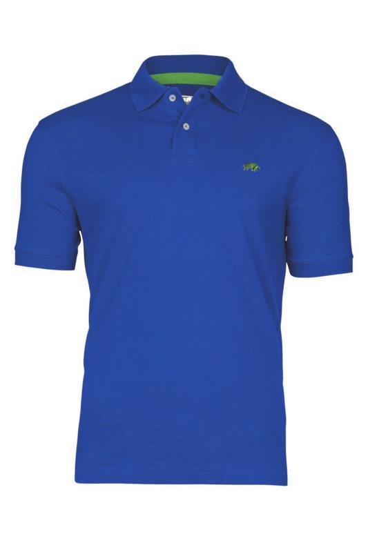 Tallas Grandes RAGING BULL Cobalt Blue Signature Pique Polo Shirt