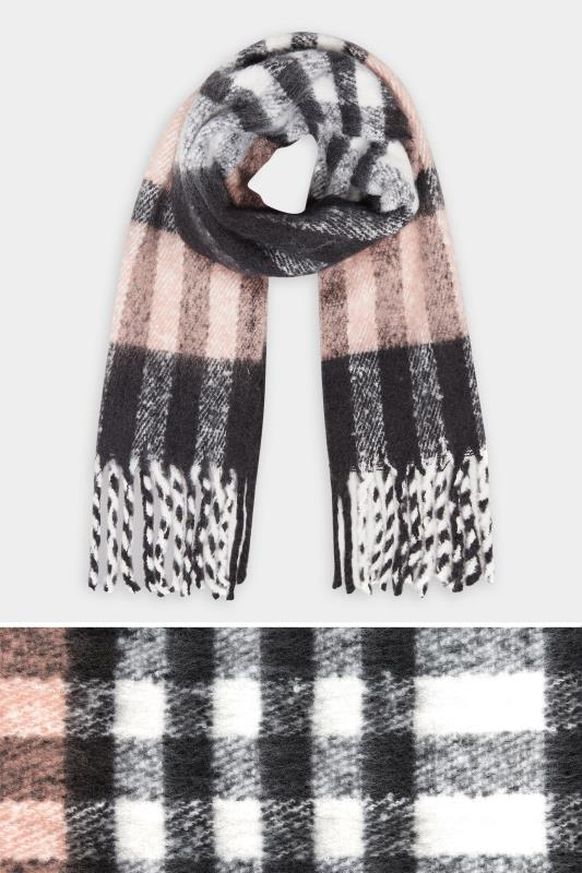 Pink & Grey Super Soft Check Scarf_split.jpg