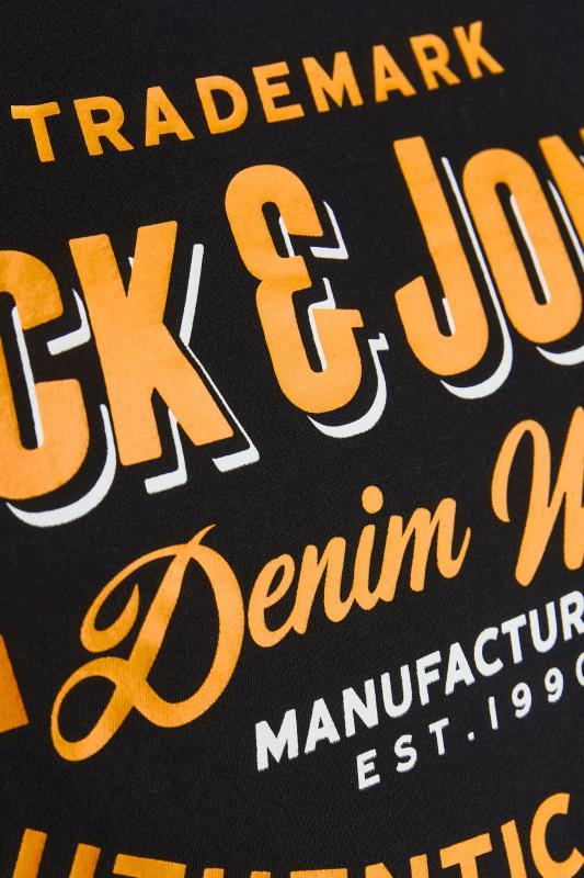 JACK & JONES Black Logo Crew Neck T-Shirt_S.jpg