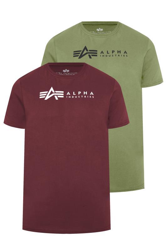 Men's  ALPHA INDUSTRIES Multi 2 Pack Logo T-Shirts