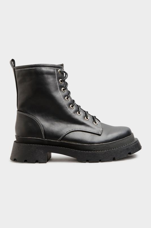 LIMITED COLLECTION Black Contrast Stitch Chunky Boots In Extra Wide Fit_B.jpg