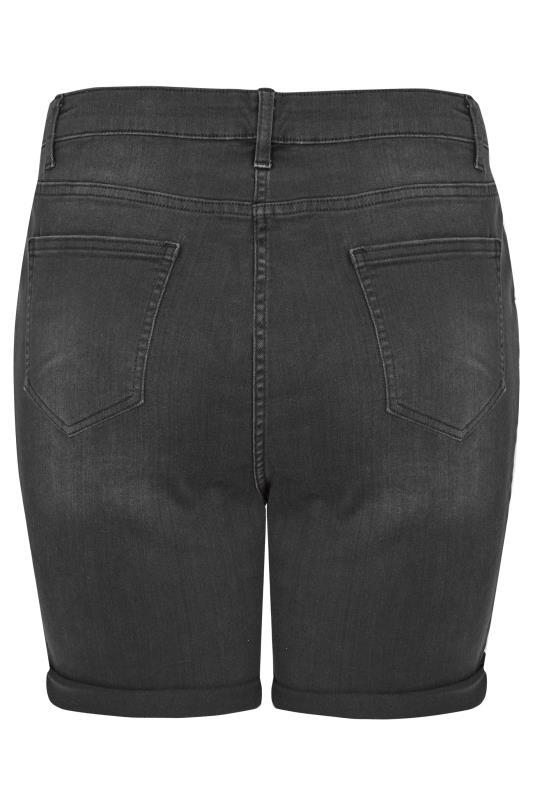 LIMITED COLLECTION Black Distressed Denim Shorts_BK.jpg