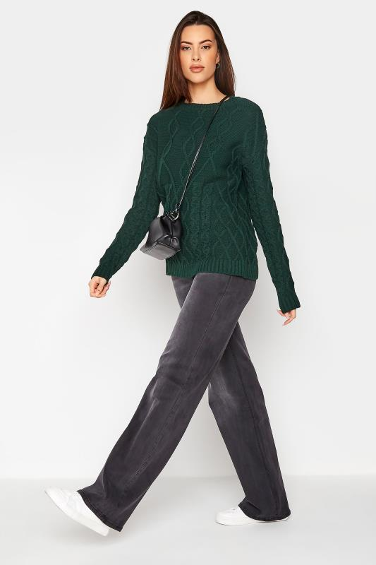 LTS Forest Green Cable Knit Jumper_B.jpg