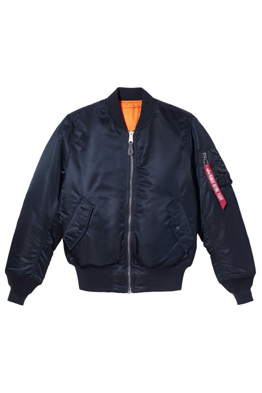 Jackets Grande Taille ALPHA INDUSTRIES Navy MA-1 Bomber Jacket