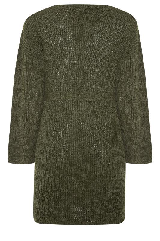 Khaki Wide Sleeve Belted Cardigan_BK.jpg