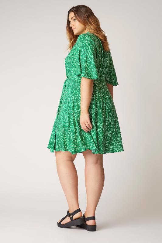 THE LIMITED EDIT Green Polka Dot Shirt Mini Dress_C.jpg