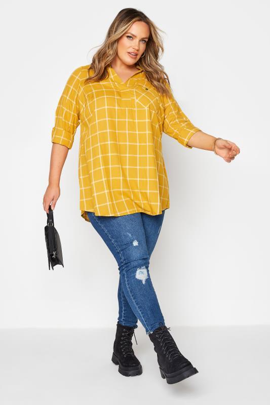 Mustard Yellow Overhead Check Shirt_B.jpg