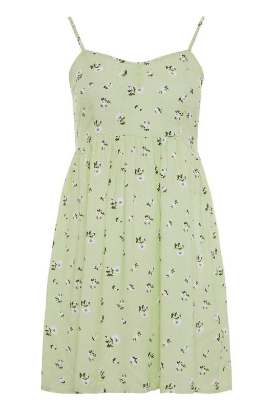 Green Ditsy Floral Strappy Dress_F.jpg