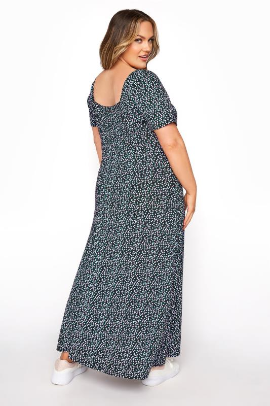 LIMITED COLLECTION Black Ditsy Floral Square Neck Maxi Dress_C.jpg