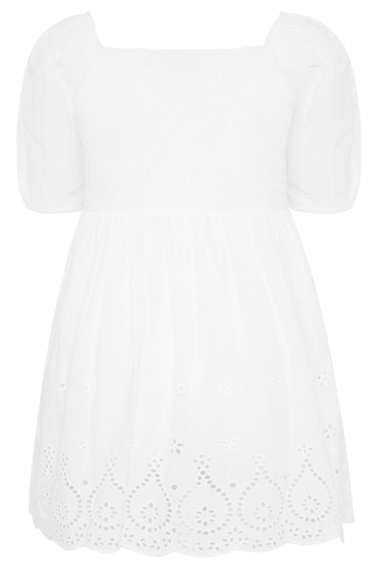 White Shirred Peplum Milkmaid Top_BK.jpg