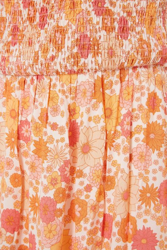 LTS Orange Short Sleeve Floral Maxi Dress_s.jpg