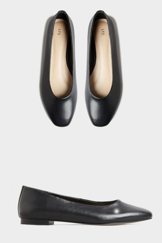 LTS Black Almond Toe Ballerinas