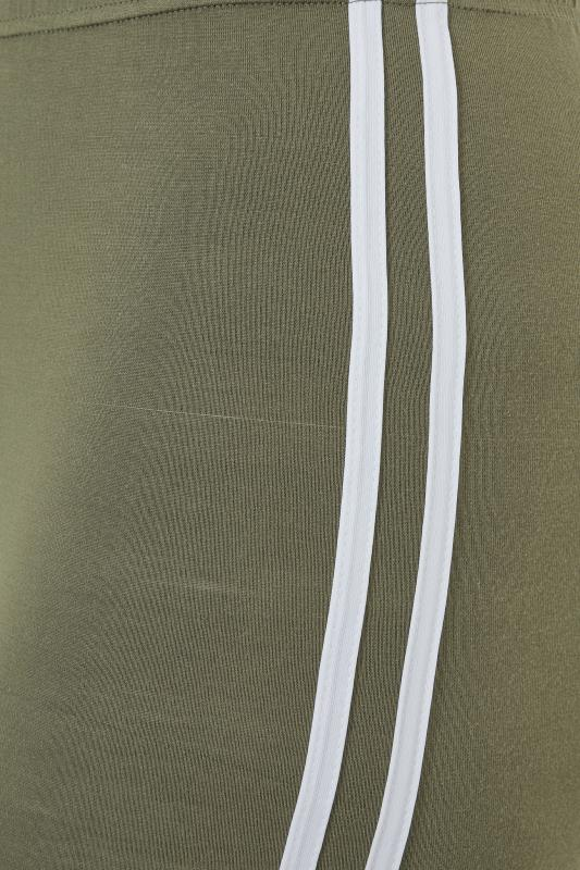 Khaki Side Stripe Cropped Leggings_s.jpg