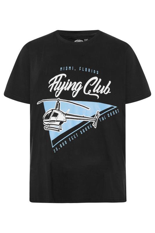 KAM Black 'Miami Flying Club' T-Shirt_F.jpg