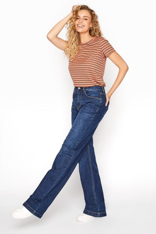 Tall  Blue Wide Leg Jeans