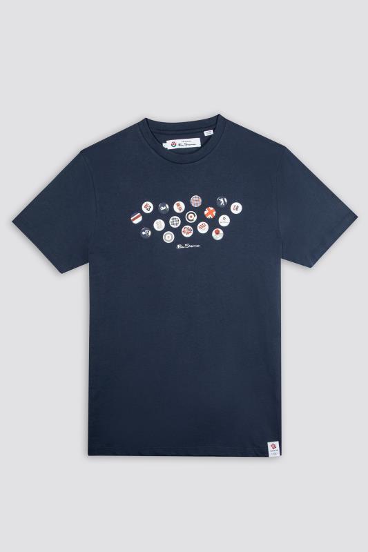 Plus Size  BEN SHERMAN Navy Official Olympic Pin Badge T-Shirt