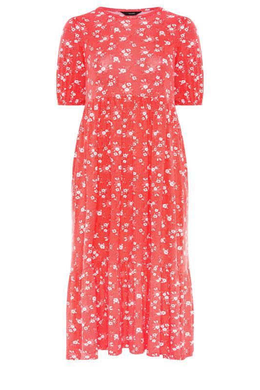 Red Floral Short Sleeve Midi Dress_F.jpg