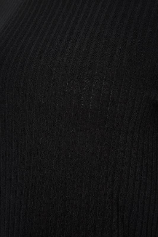 LTS Black Ribbed Puff Sleeve Top_S.jpg
