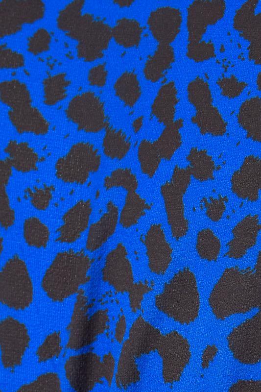 YOURS LONDON Cobalt Blue Animal Print Wrap Midi Dress_S.jpg