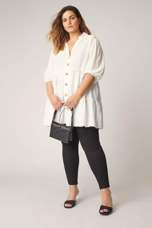 THE LIMITED EDIT White Tiered Smock Tunic Top_B.jpg
