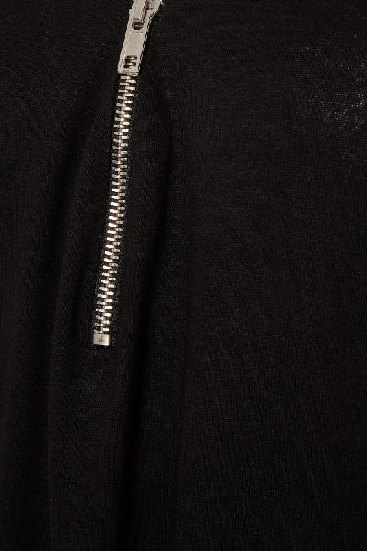 LTS Black V-Neck Zip Top_S.jpg