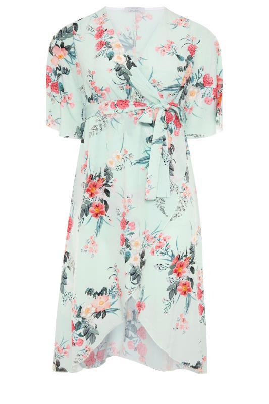 YOURS LONDON Sage Floral Wrap Dress_F.jpg