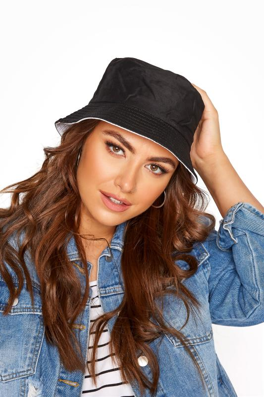Tall  Yours Black Reversible Bucket Hat