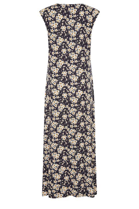 LTS Black Floral Print V-Neck Midi Dress_BK.jpg