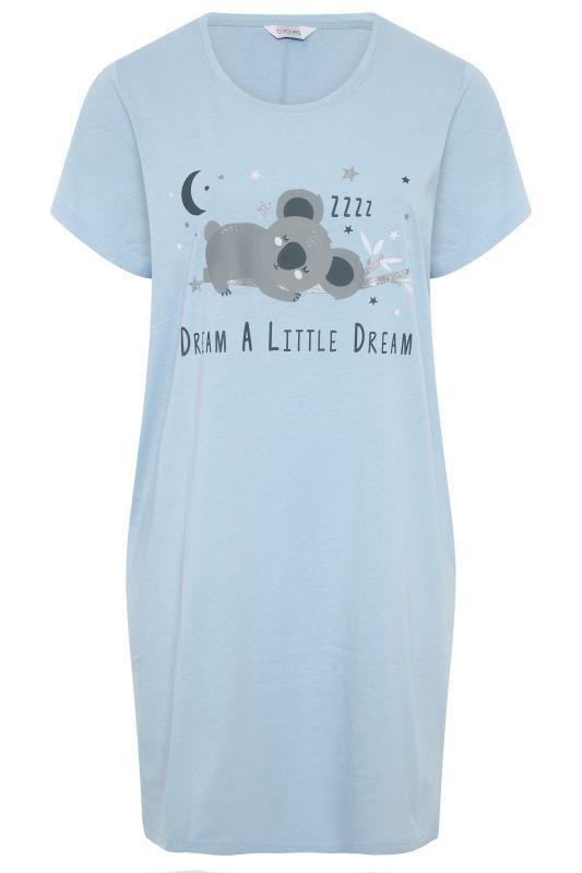 Blue Dream Koala Dipped Back Nightdress_F.jpg