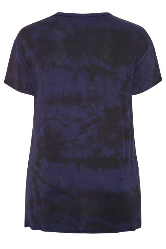 LIMITED COLLECTION Navy Tie Dye 'Forever' T-Shirt