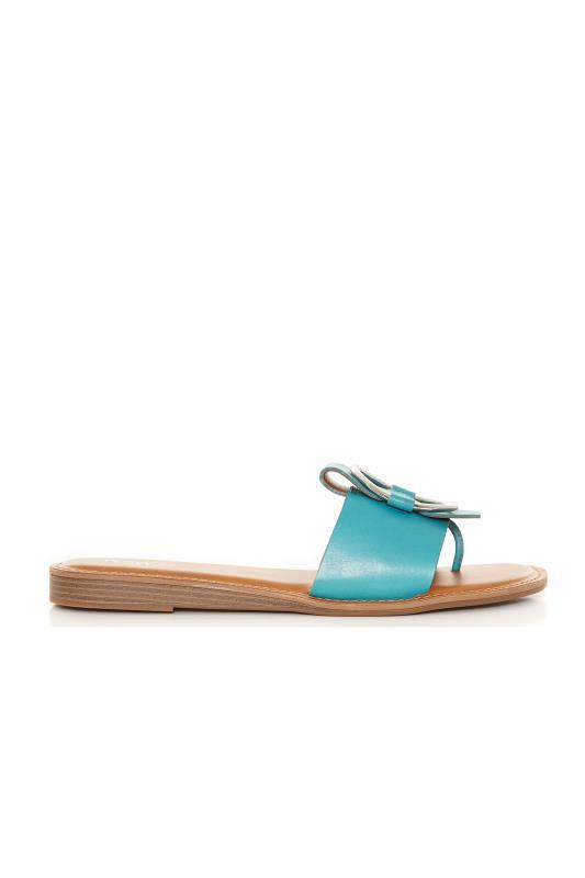 FRANCO SARTO Turquoise Gretel Flat Slide