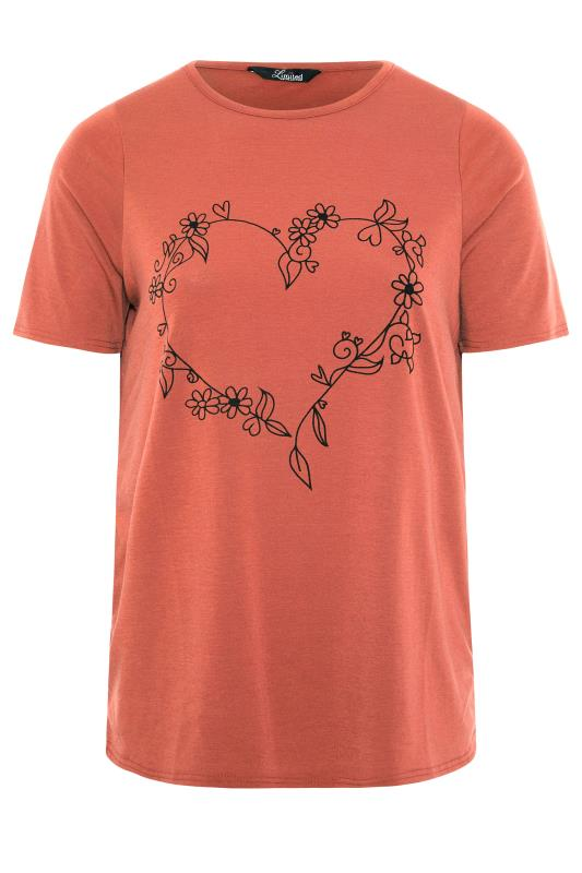 LIMITED COLLECTION Rust Heart Print T-Shirt_F.jpg