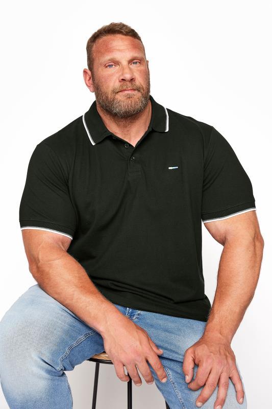 BadRhino Black Essential Tipped Polo Shirt_M.jpg