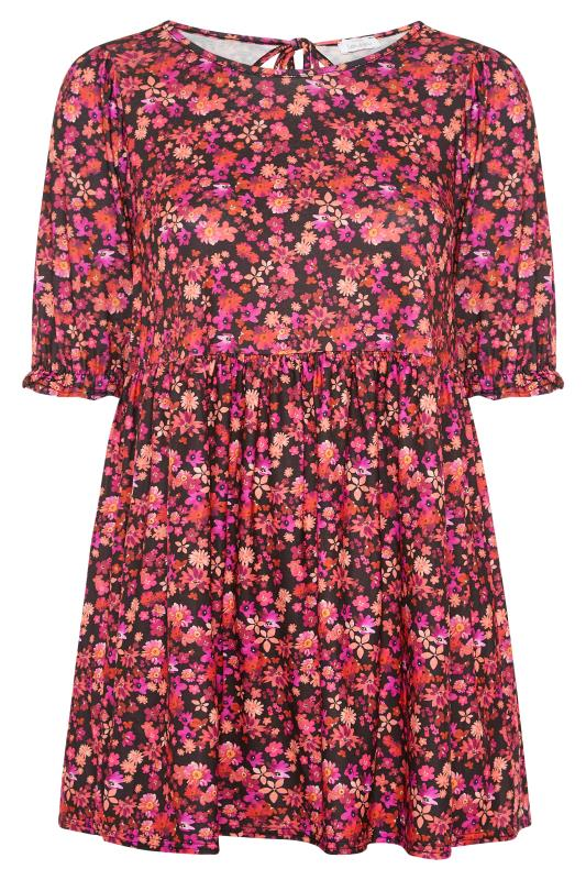 YOURS LONDON Black Floral Tunic_F.jpg