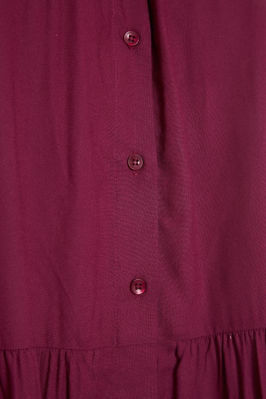 Burgundy Tiered Smock Longline Shirt_S.jpg